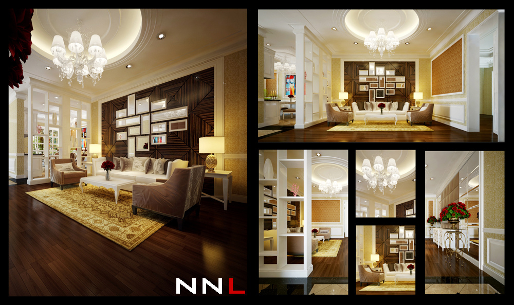 Living room divider interior design ideas for Interior design in vietnam