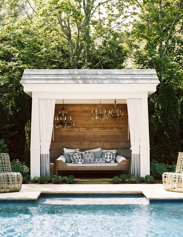 luxury poolside cabana | Interior Design Ideas.