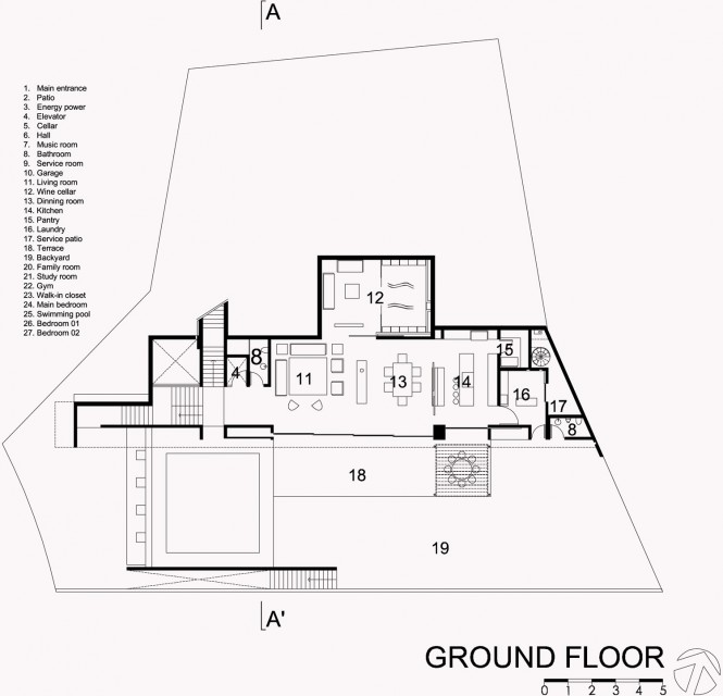 mountain house ground floor