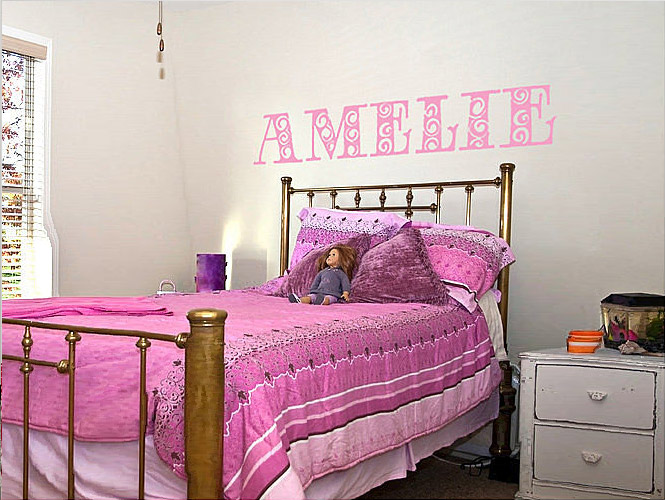name letter wall stickers