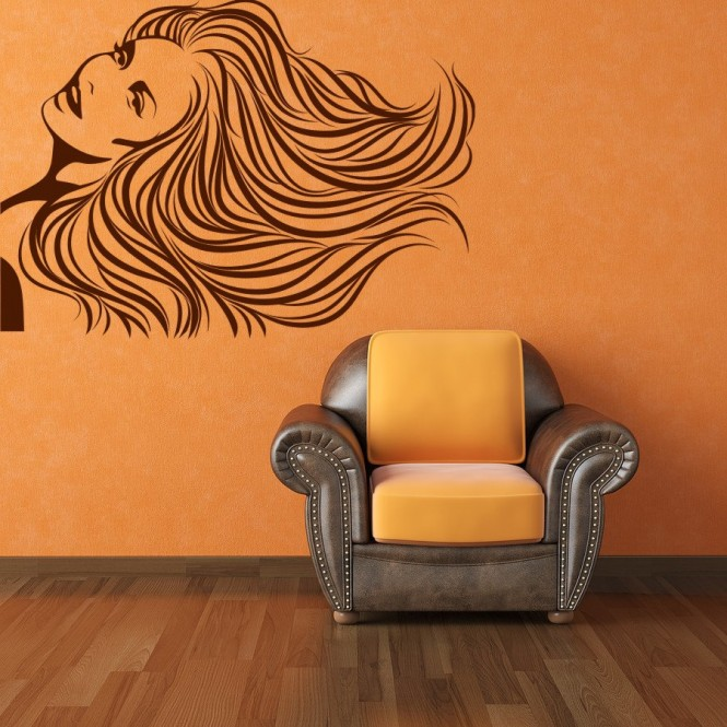 woman image wall decal