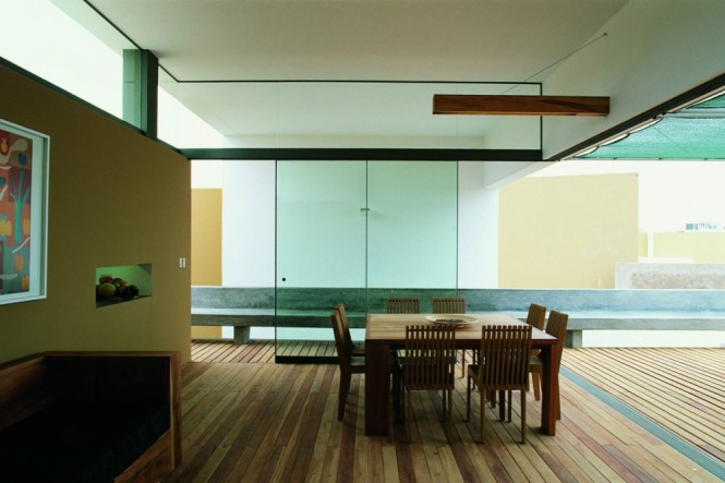 wood dining room