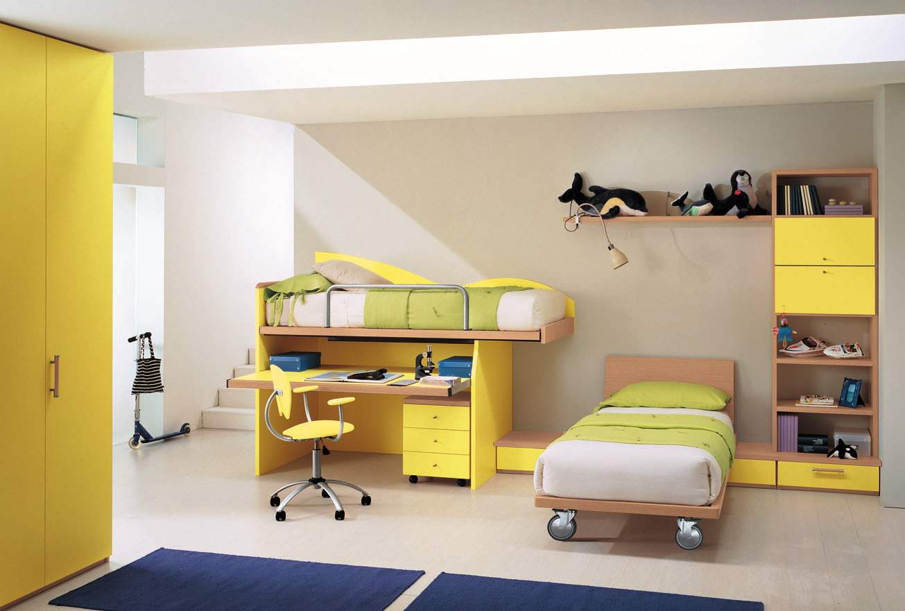 Yellow room interior inspiration 55 rooms for your - Sofas para habitaciones juveniles ...