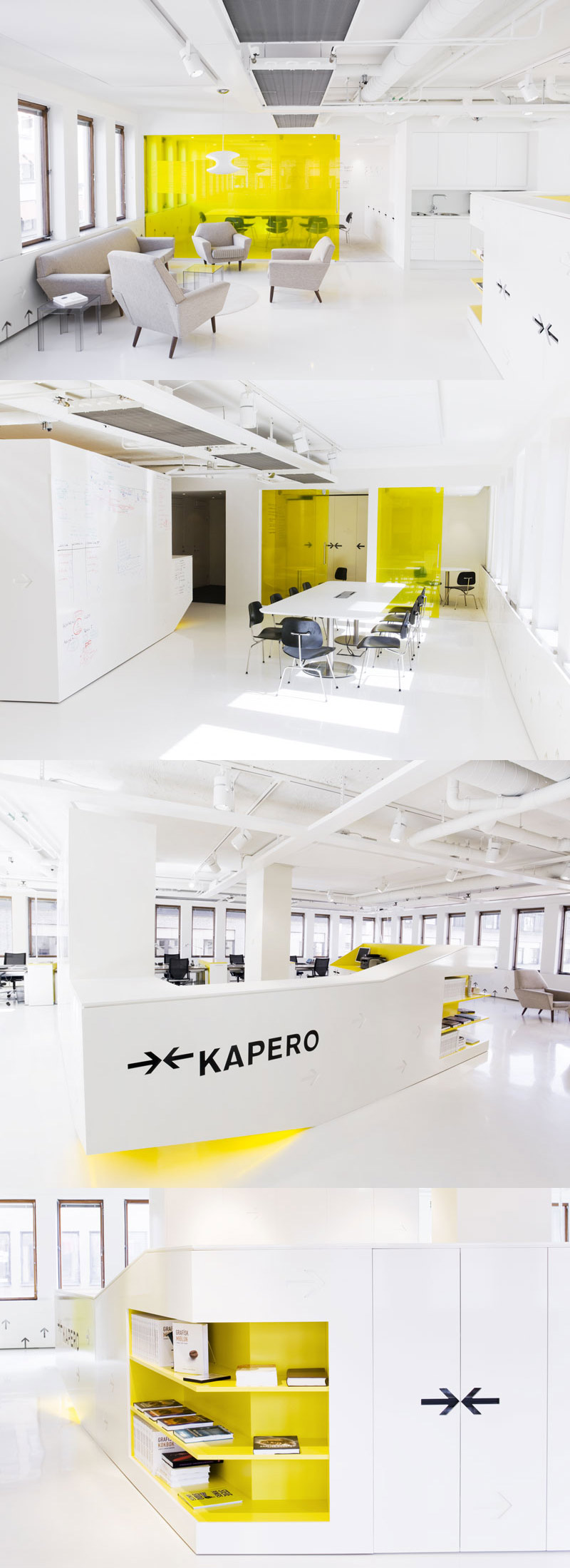 27 yellow office interior design ideas for Office design yellow