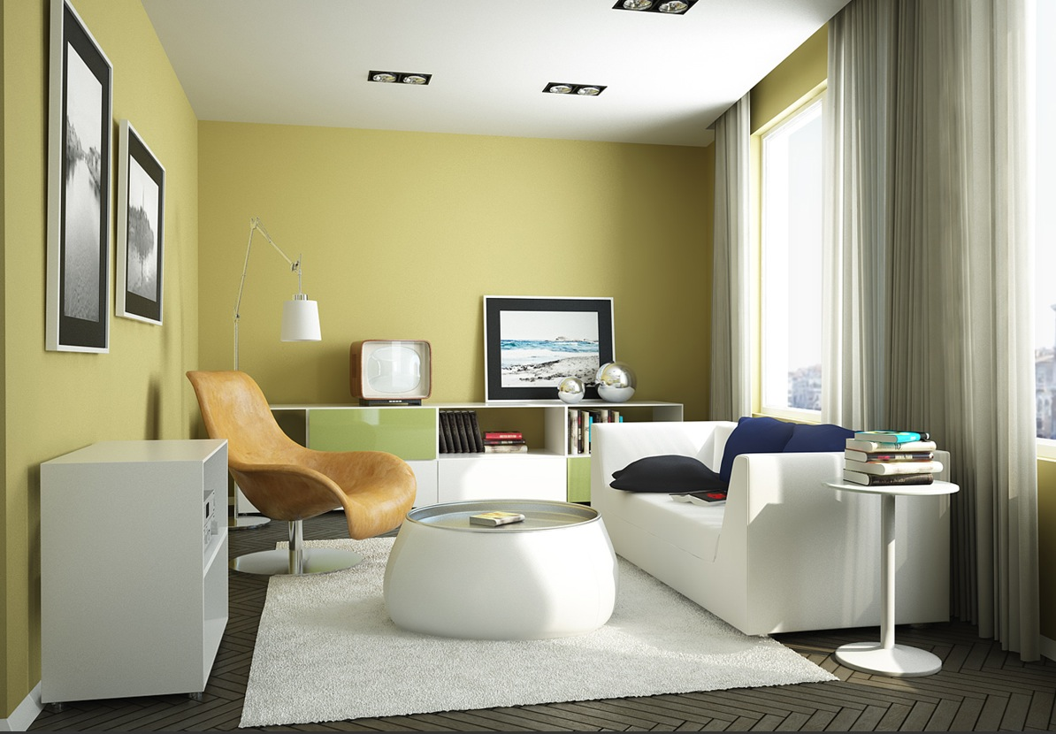 green living room accessories.  Yellow Room Interior Inspiration 55 Rooms For Your Viewing Pleasure