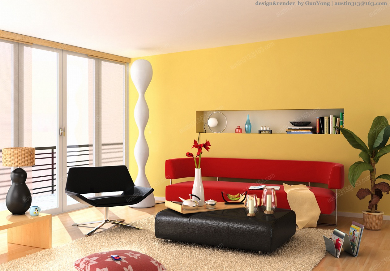 Red Room Color Schemes Interior Design Ideas