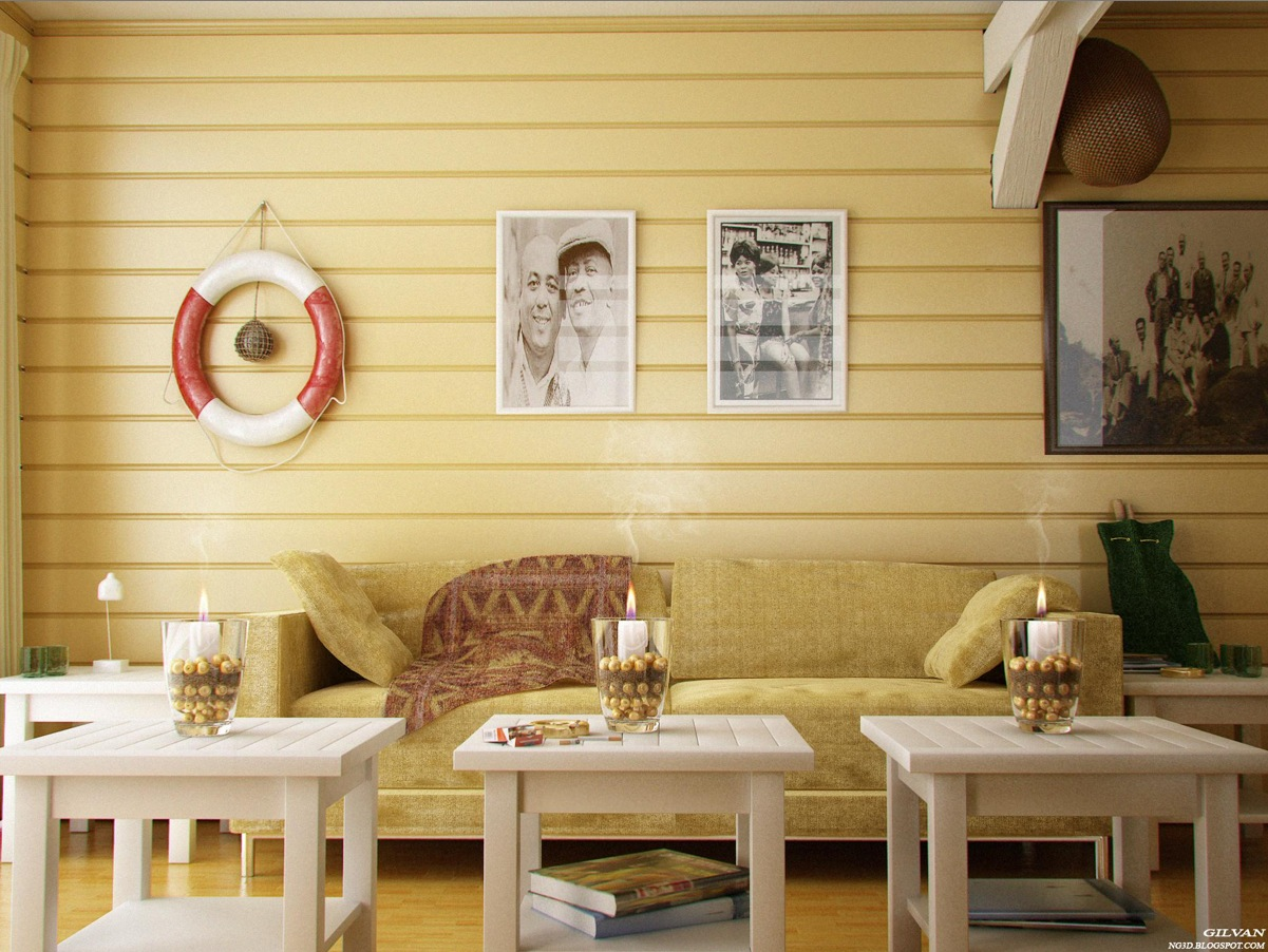 Yellow room interior inspiration 55 rooms for your viewing pleasure - Decorated walls living rooms ...