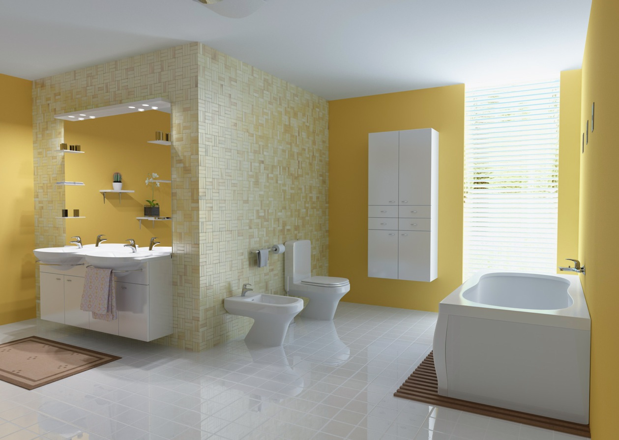 Bathroom Ideas Yellow yellow room interior inspiration: 55+ rooms for your viewing pleasure