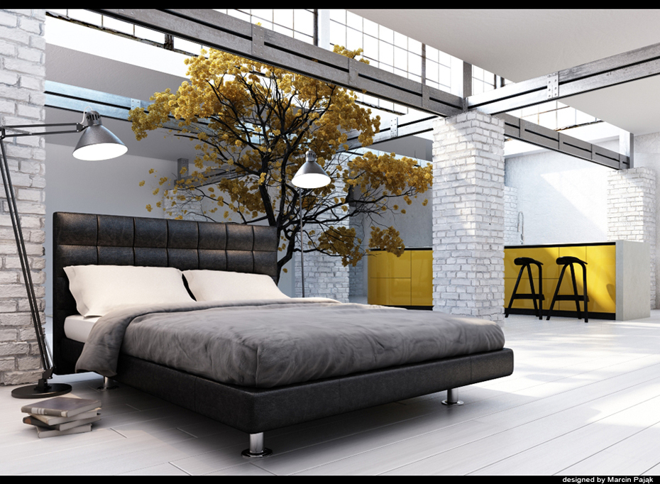 Black And White And Yellow Bedroom yellow room interior inspiration: 55+ rooms for your viewing pleasure