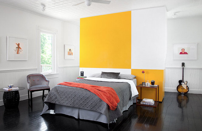 40 yellow grey bedroom interior design ideas for Grey and yellow bedroom