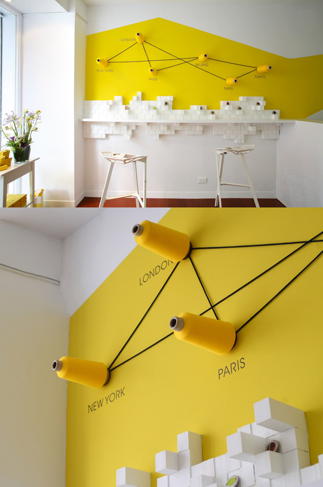 44 yellow feature wall | Interior Design Ideas.