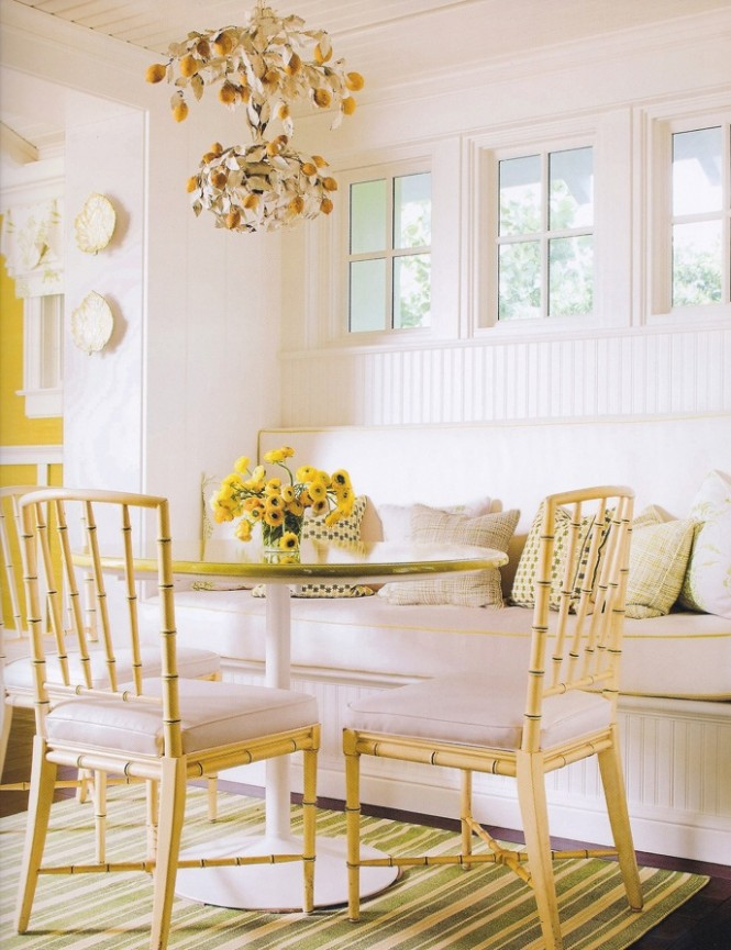 Yellow room interior inspiration 55 rooms for your viewing pleasure - Pale green dining room ...