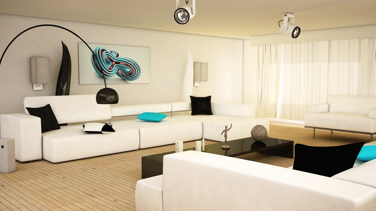 Modern Living Room Black And White black & white interiors