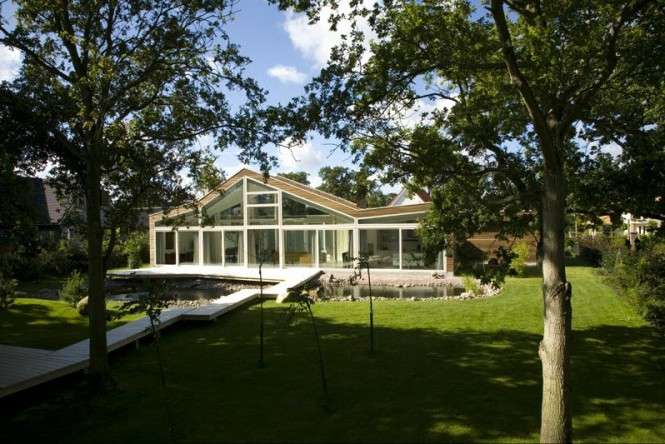 Glass fronted villa