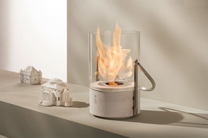 SECEL Glass Bucket Fireplace