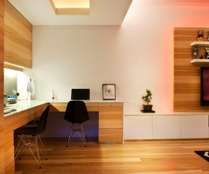 Bon Contemporary Wood Panel Interior In Upper Class Hong Kong ...