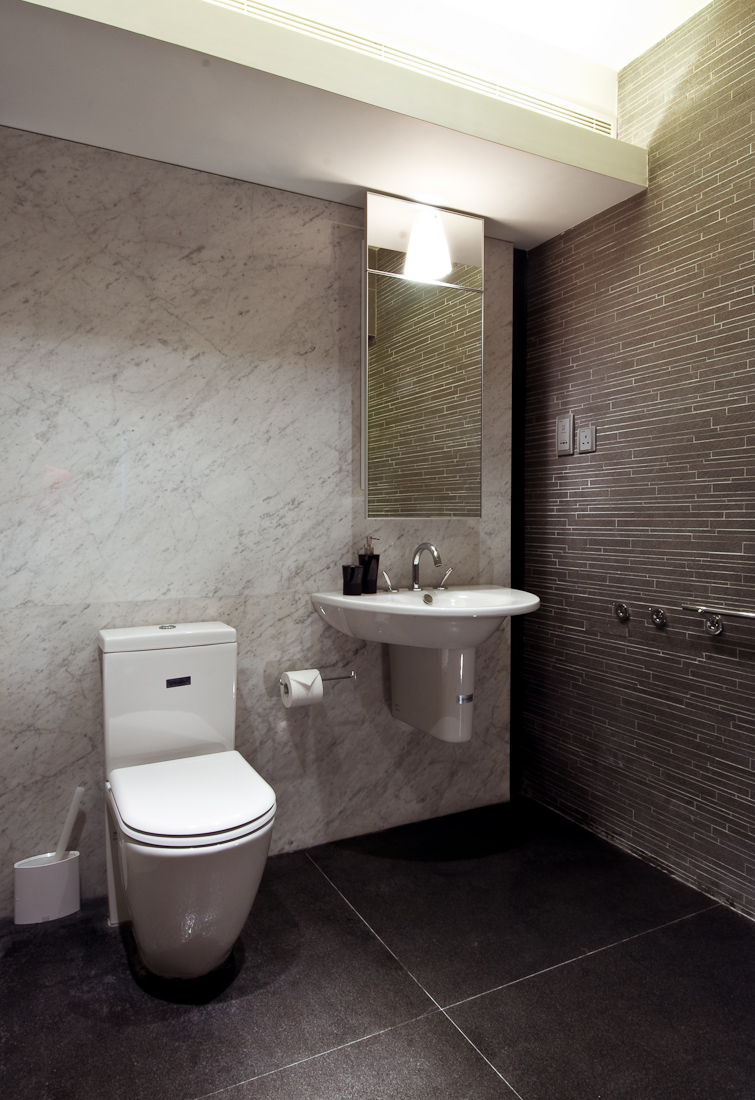 Bathroom Tiles Design Grey : Wooden apartment in hong kong
