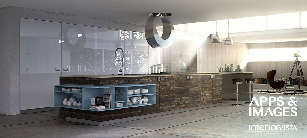 New Age Contemporary Kitchens on grey stage backdrop