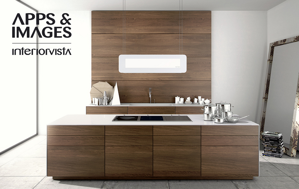 New age contemporary kitchens for Walnut kitchen designs