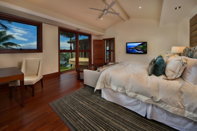 white beachside bedroom