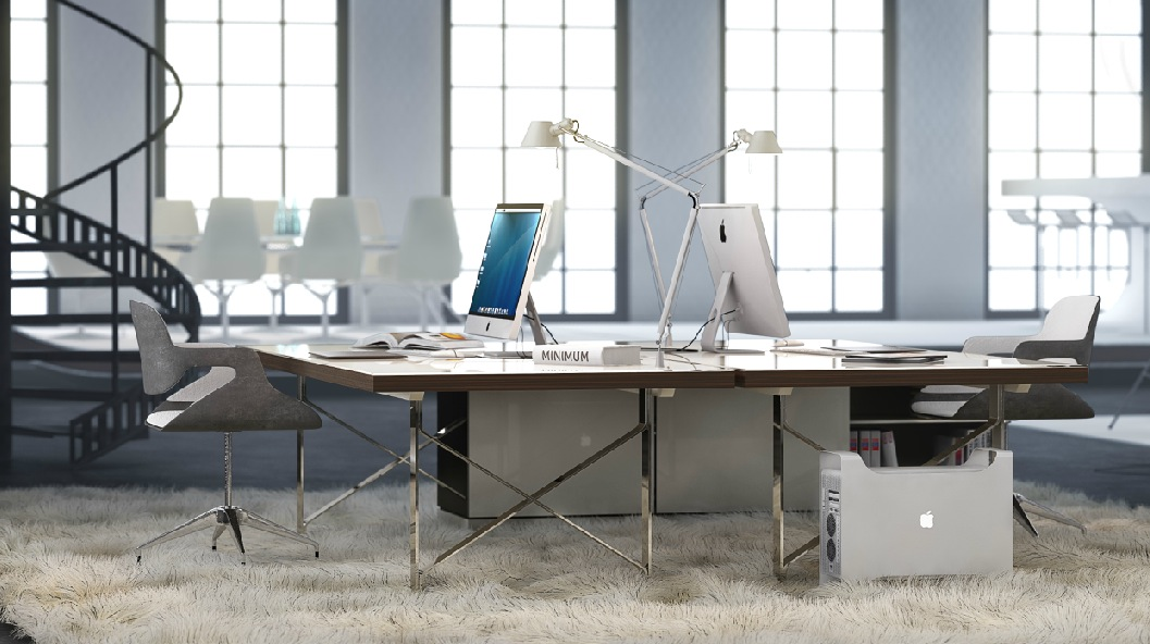 Groovy White Office Space Shag Pile Carpet Interior Design Ideas Largest Home Design Picture Inspirations Pitcheantrous