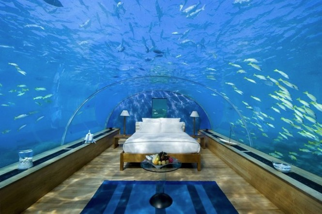 Ultra Modern Bedroom Under Water Design | Modern Living Room