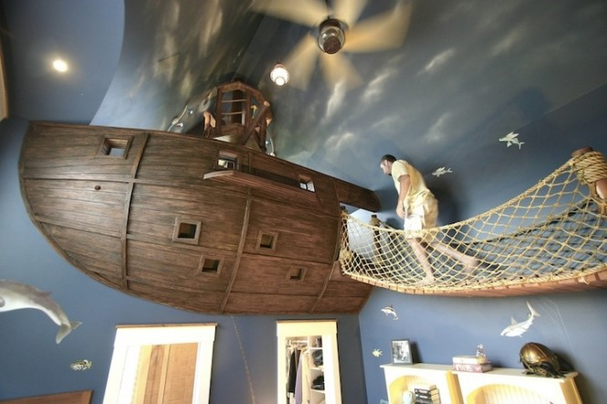 The Pirate's bedroom would probably the quirkiest one on this set. Get to bed on time or you'll be walking the plank!
