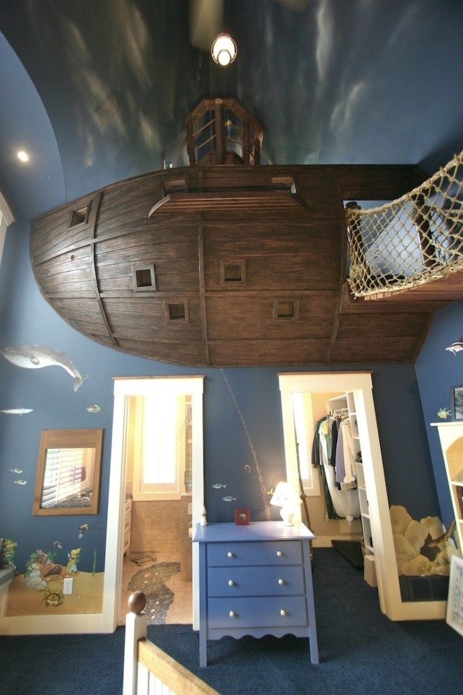 11 Pirate ship theme bedroom