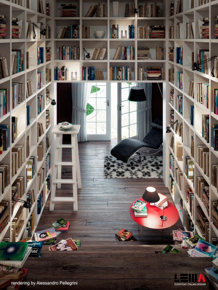 13 space saving home library design interior design ideas
