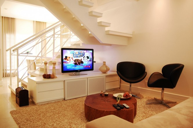 14 neutral living room modern staircase
