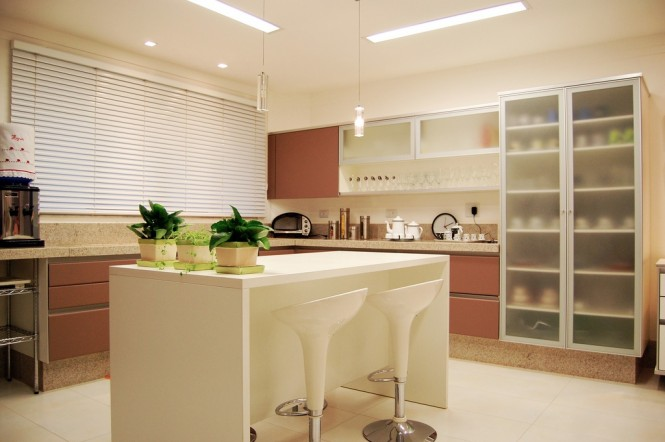 16 brown white modern kitchen island