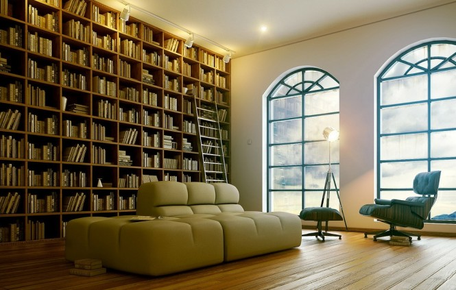 7 sophisticated modern home library