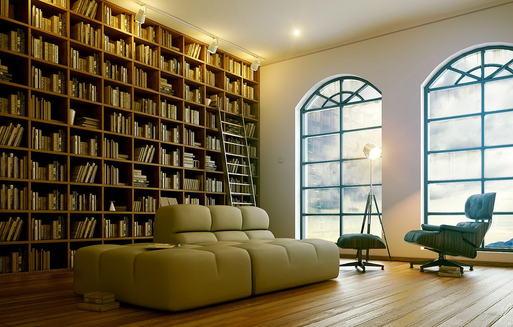 7 sophisticated modern home library interior design ideas for Home library ideas design