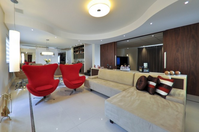 9 Neutral red modern chairs living room