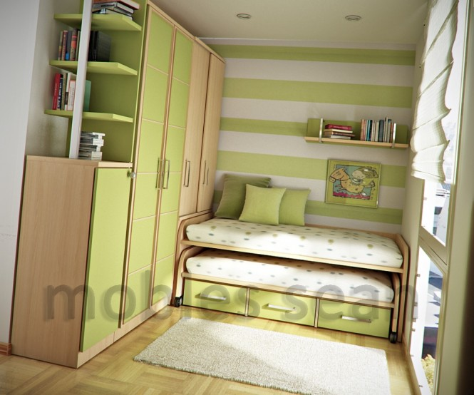 Mengot makes great use of the wall height in these spaces, utilizing vertical proportions for shelving and personalization, whilst lower levels incorporate innovative dual use beds with trundles and further storage opportunities.