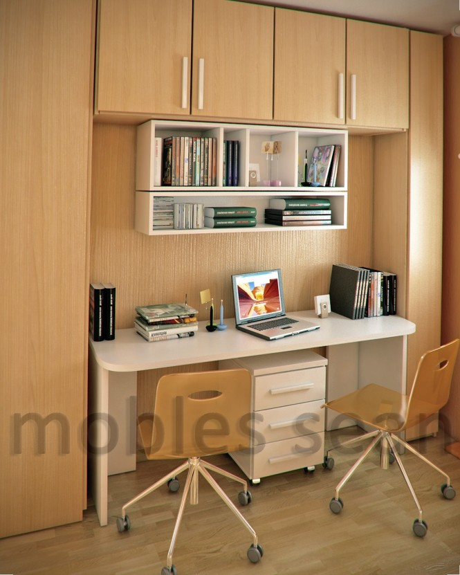 Beech white kids small study room area