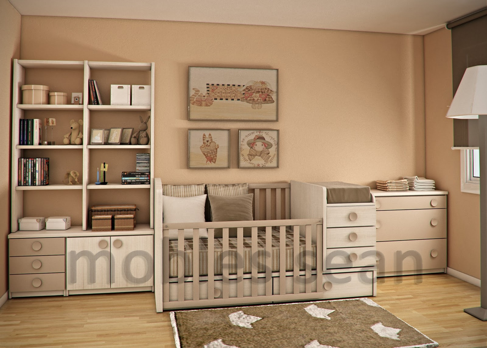 Space saving designs for small kids rooms for Babies bedroom decoration