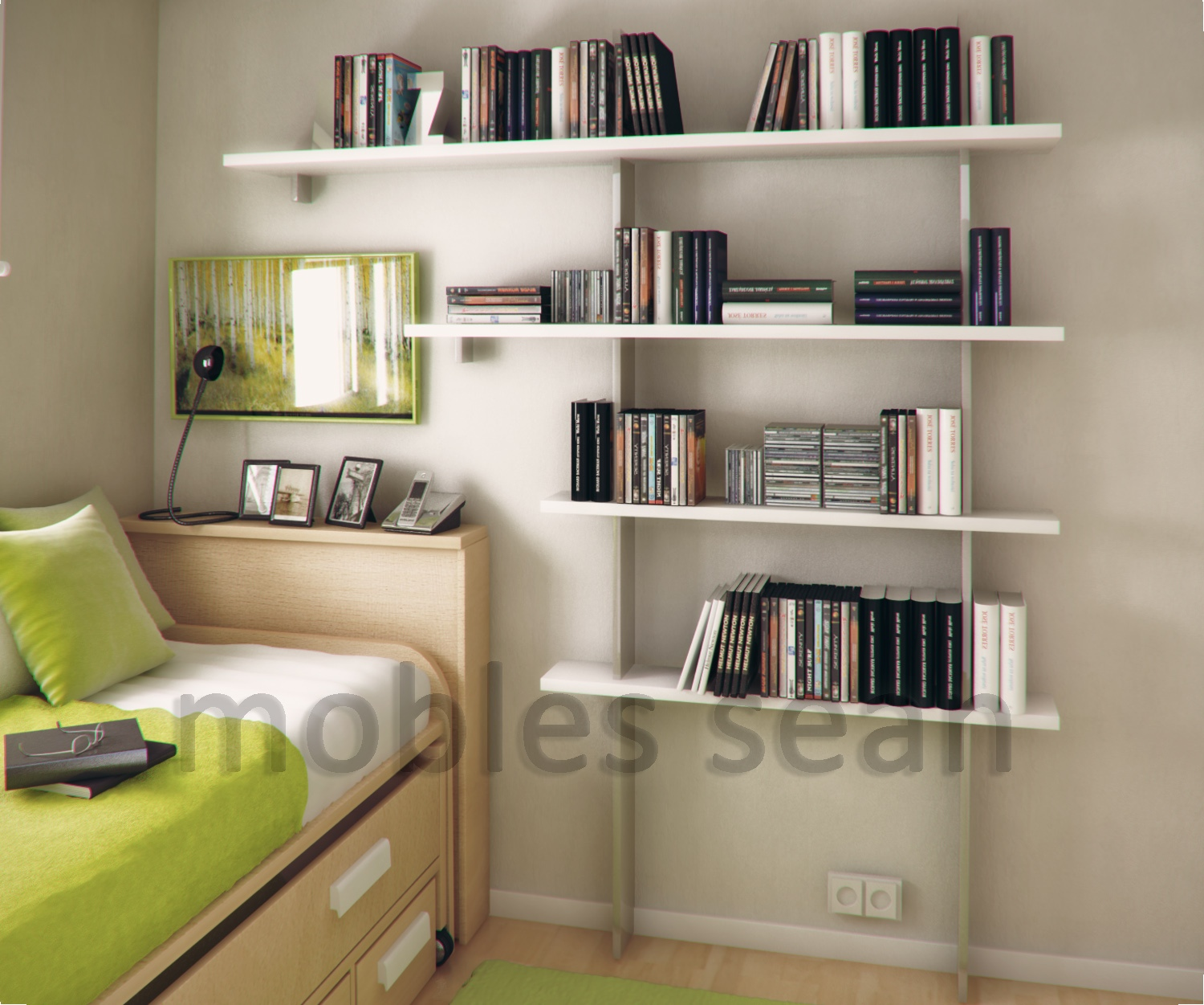 Space saving designs for small kids rooms - Small bookcases for small spaces design ...