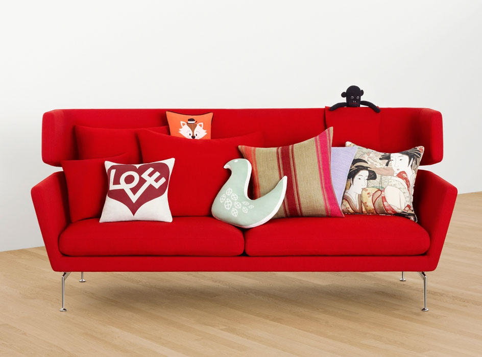 Decorative Pillows For Red Sofa : Beautiful Modern Style Sofas