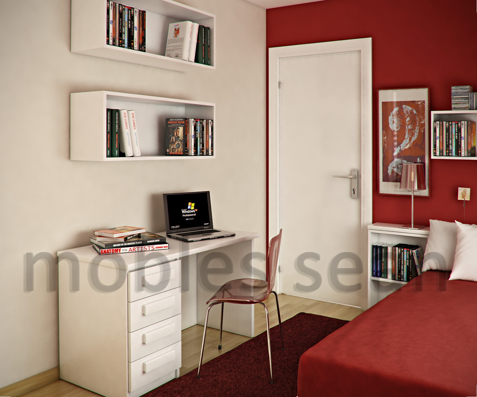 Red-white-kids-room-box-shelving