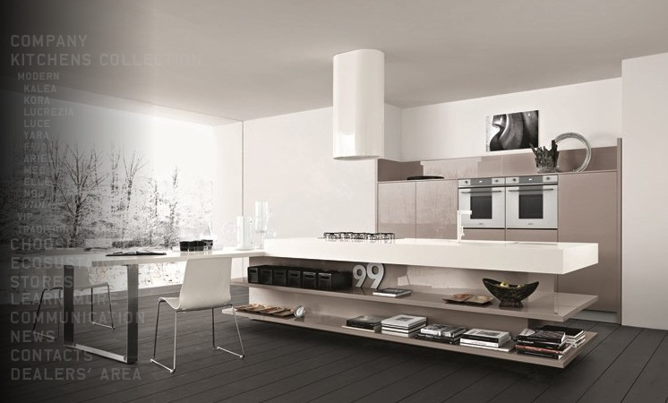 Taupe white kitchen interior design ideas for New kitchen designs 2012