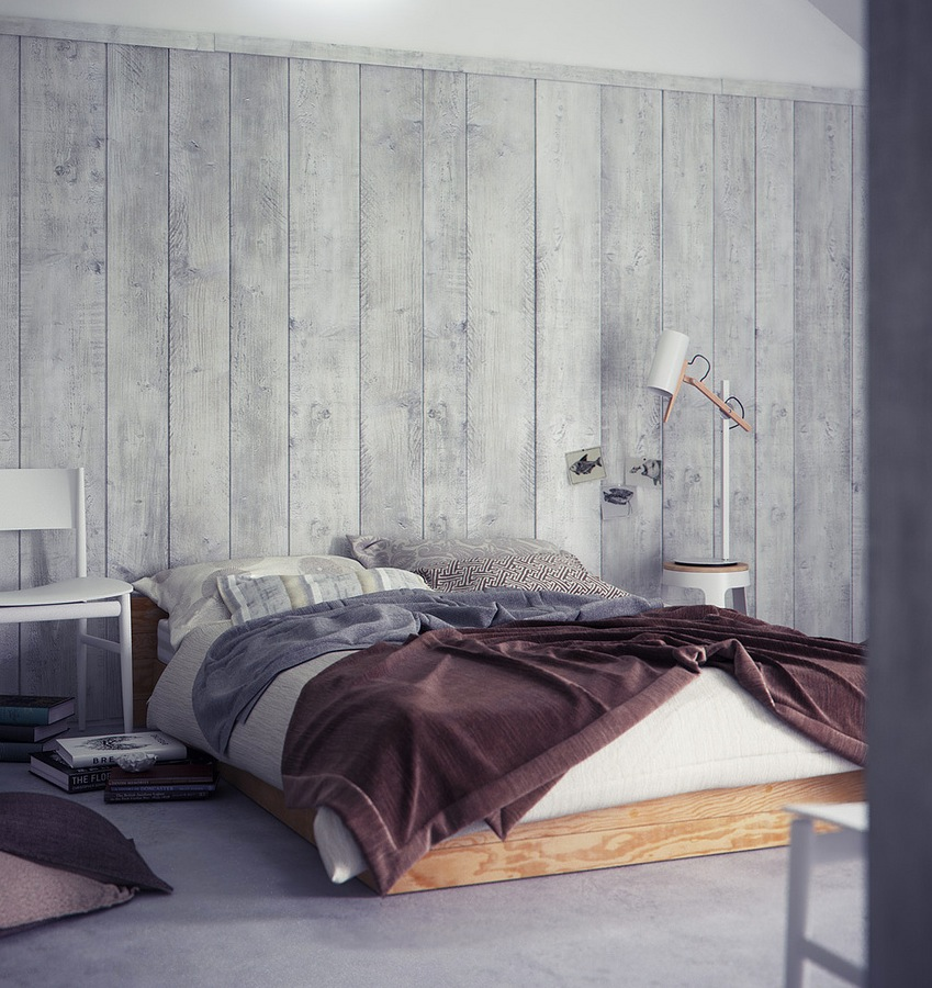 Exquisite interior renders by bbb for Bedroom ideas grey walls