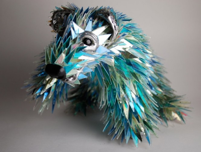 animal shattered CD modern sculpture Sean Avery