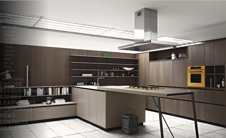 Modern kitchens from cesar - Modern kitchen ideas with brown kitchen cabinets ...