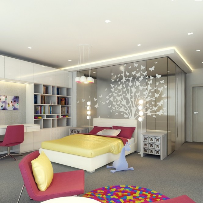 Colorful bedroom design