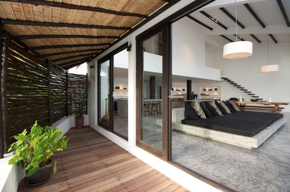 Tropical beach villa for Apartment design with terrace