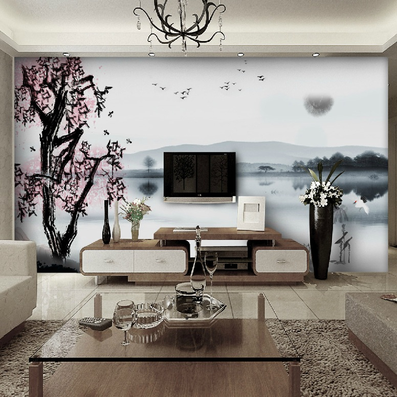 Exquisite wall coverings from china for Asian wallpaper mural