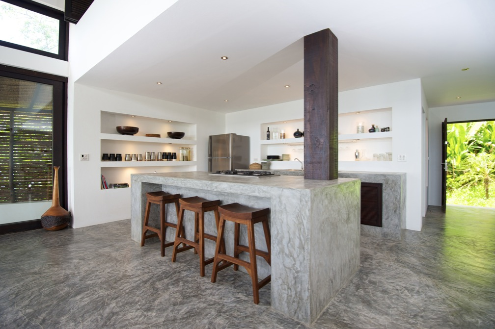 Concrete kitchen island countertops