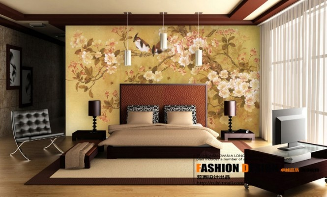 Contemporary chinese infuenced bedroom design