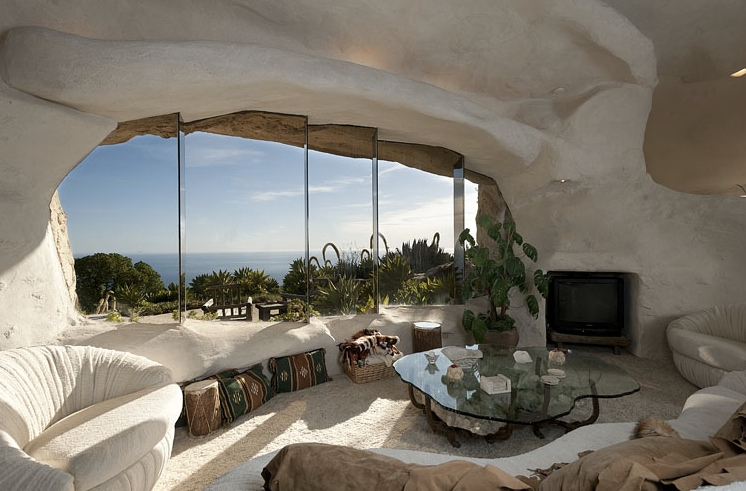 Flintstone Style Cave House Living Room Interior Design